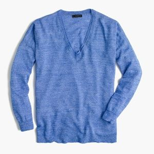J. Crew Light-weight Merino Wool and Linen Sweater